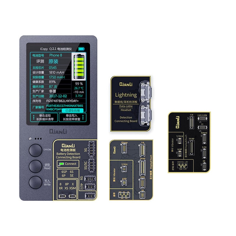 Qianli iCopy Plus de pantalla LCD Color Original reparación programador para iPhone XR XSMAX XS 8P 8 7P 7 vibración/Touch Repair