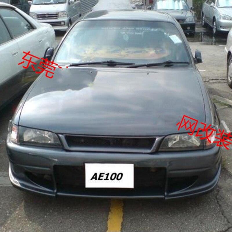 Uso para parrillas de carreras Toyota corolla AE100 1993 -- 1997 Año, cubierta delantera de rejilla de carreras de fibra de carbono, accesorios para kit corporal
