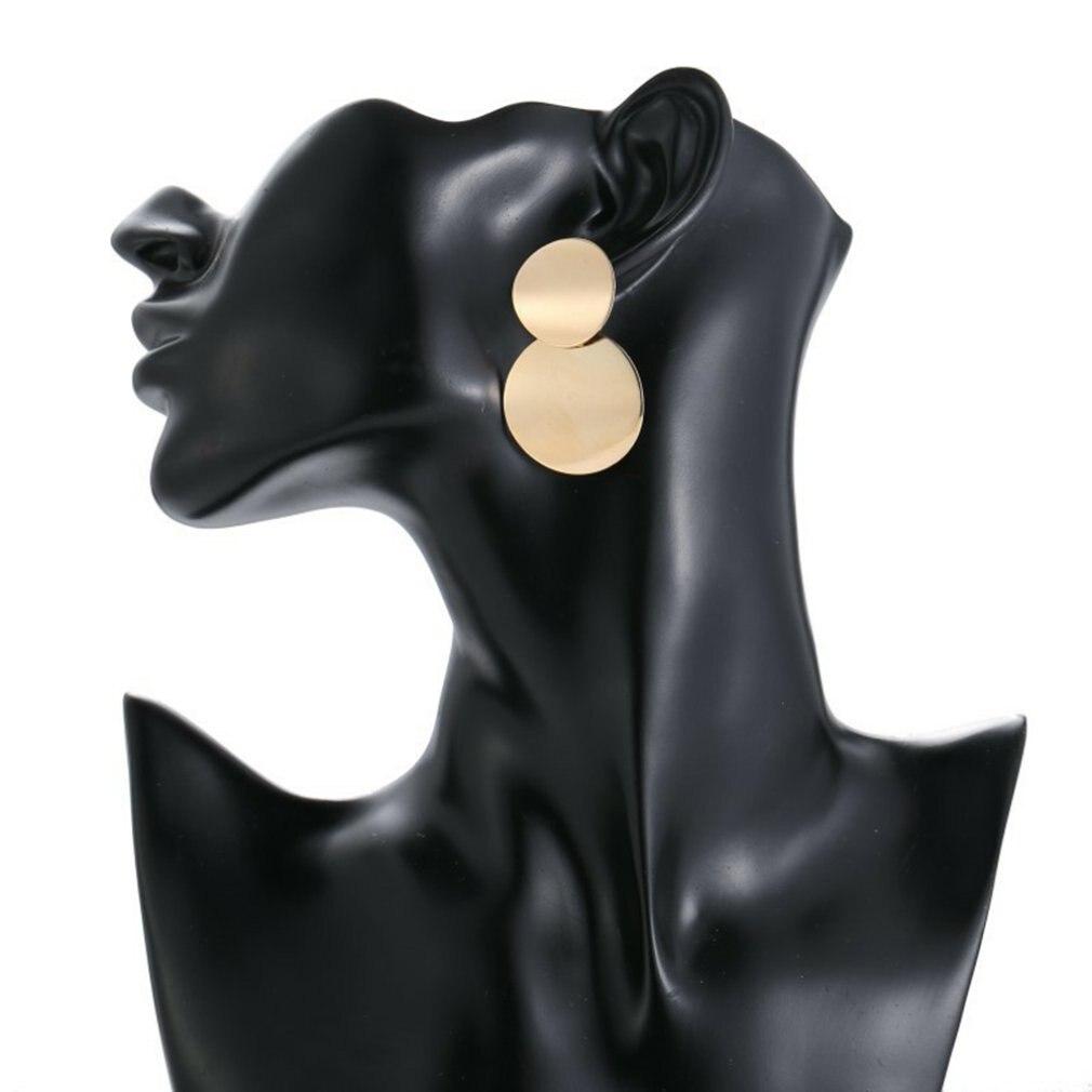 Pendientes largos ligeros en capas dorados, pendientes cortos para mujer, Joyería Moderna para los oídos, el mejor regalo al por mayor