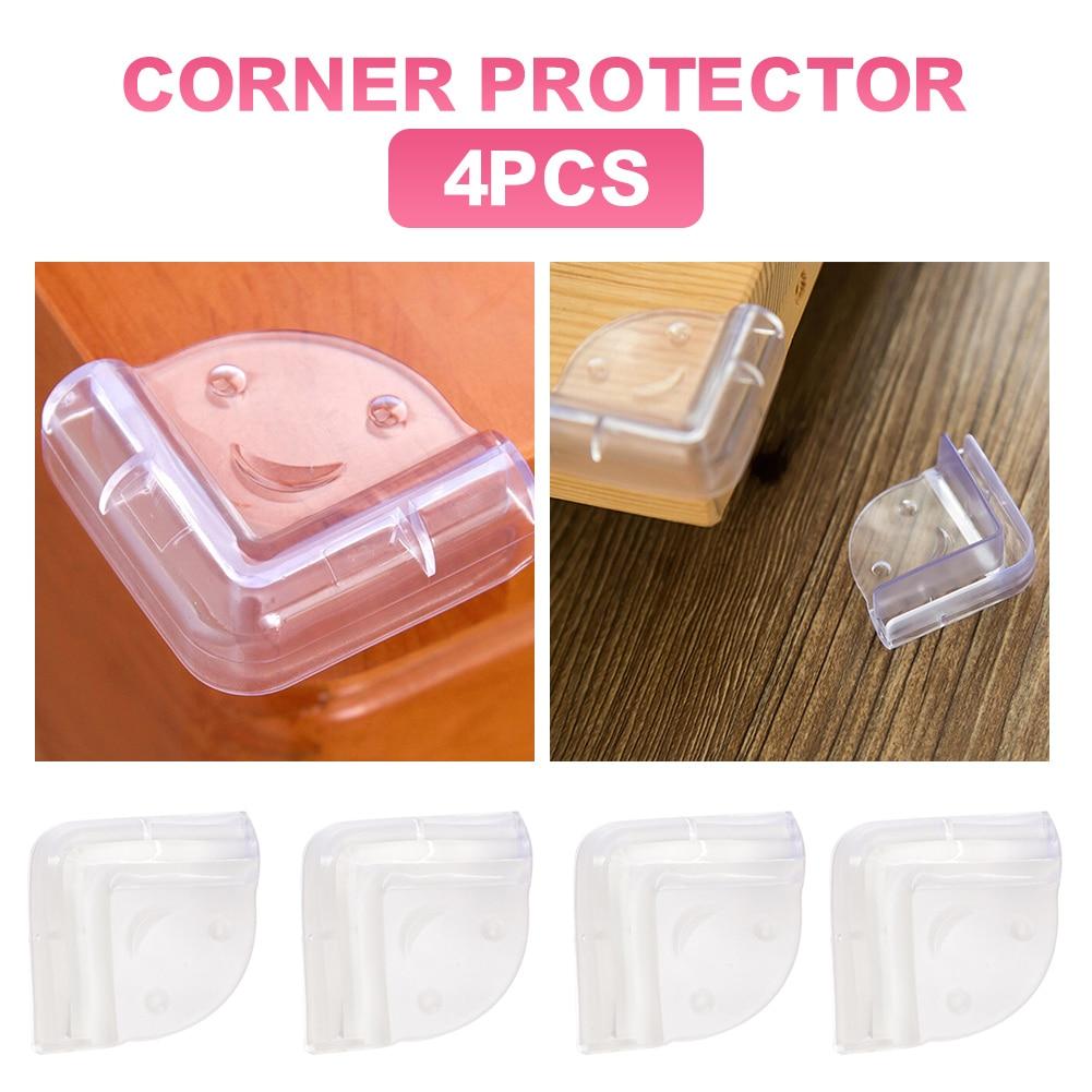 Угловые протекторы для защиты от детей, прозрачные Угловые бамперы с высокой устойчивостью для острых углов стола