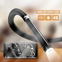 hd usb c endoscope semi rigid cable waterproof 7mm lens 6leds light snake endoscope camera for android phone pc