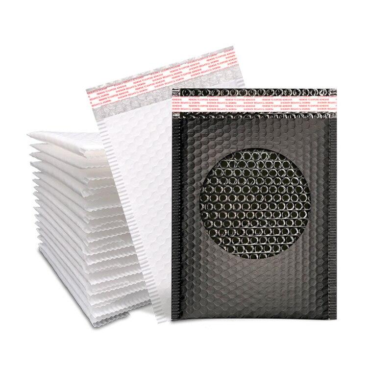 10 Uds #000 4x8 pulgadas negro Poly Bubble Mailer sobres acolchados 12x18cm bolsa de correo autosellante sobres de envío de burbujas