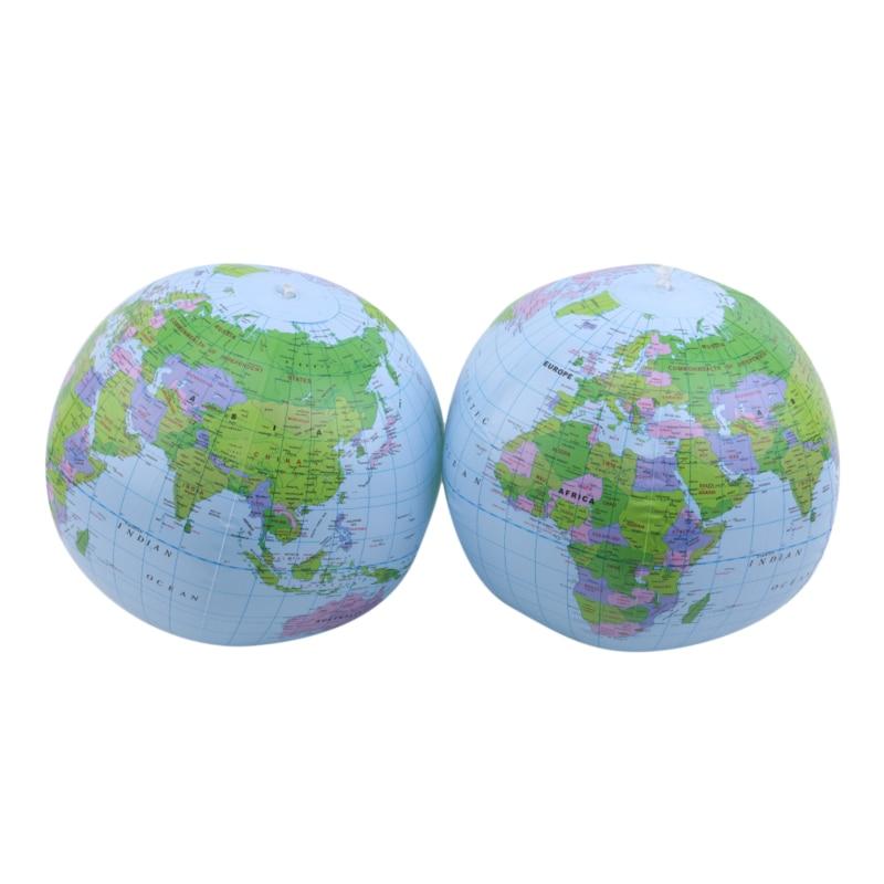 Pelota de playa inflable de PVC juguete versión inglesa globo mapa del mundo globo pelota de playa juguetes de baño para niños regalo divertido