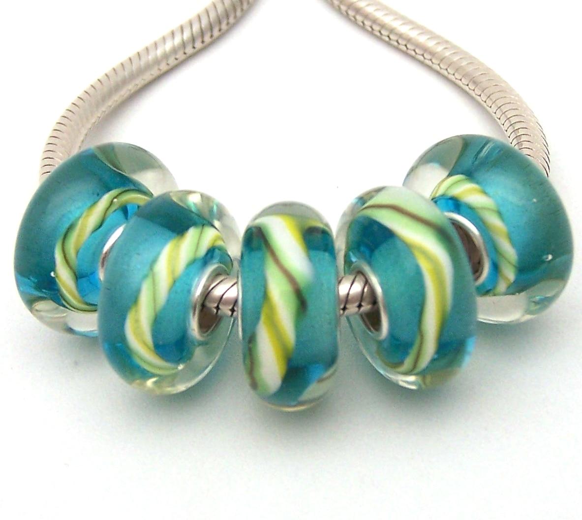 JGWGT 1121 5X100% autenticidad S925 cuentas de plata de ley cuentas de cristal de Murano ajuste europeo encantos pulsera diy joyería de Murano