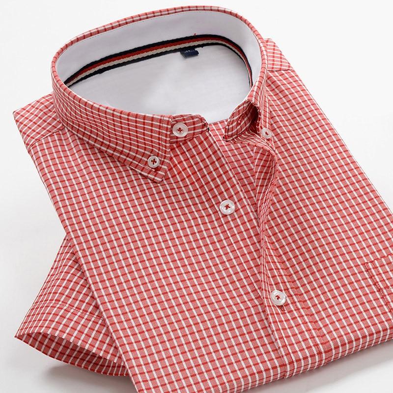 5XL 6XL 7XL 8XL 9XL 10XL big Size Men's Plaid Shirt 2020 Summer New High Quality Cotton Business Casual Brand Short Sleeve Shirt