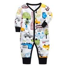 아기 rompers 신생아 아기 소녀 소년 옷 100% 코튼 긴 소매 아기 잠옷 만화 인쇄 된 아기 세트