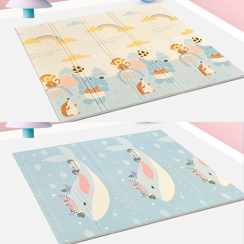 سجادة للعب قابلة للطي XPE رغوة الطفل Playmat لينة الطابق الزحف الوسادة لعب للأطفال السجاد للطي لعبة النشاط البساط مع حقيبة