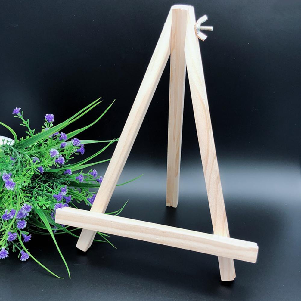 Деревянный мольберт, маленький мольберт 18*24, подставка для дисплея с рисунком, тонкая работа, складной деревянный треугольный мольберт, дер...