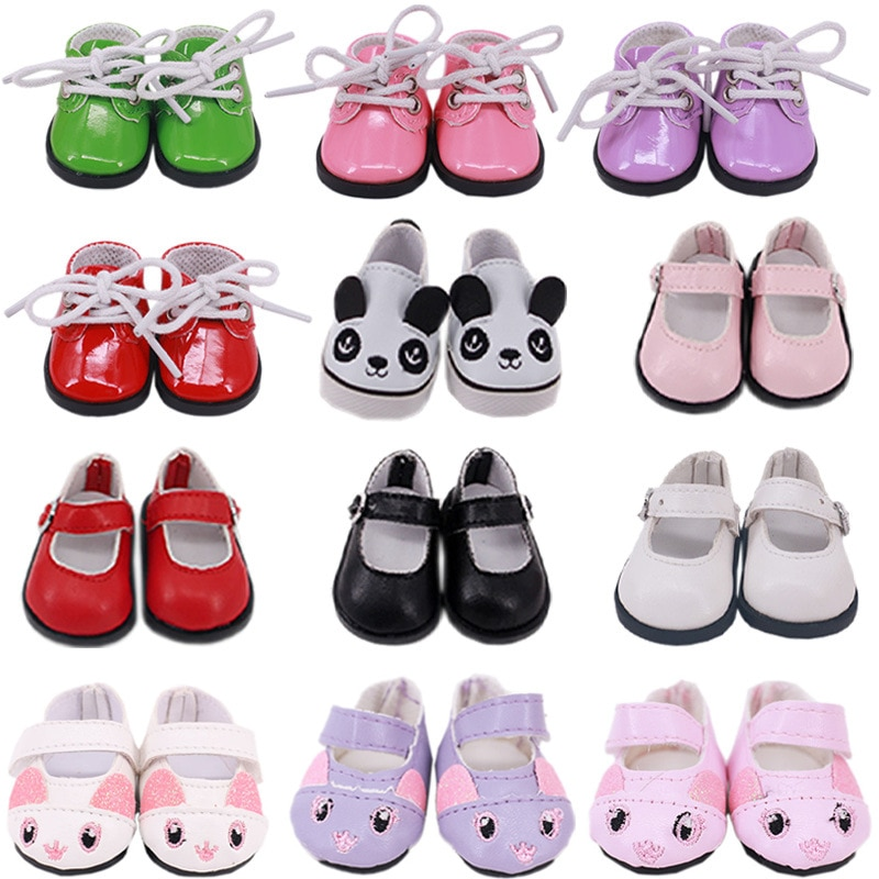 2021 New Fit 18 inch 43cm Doll Shoes Accessories Baby New Born Thread Strap Shoes For Baby Birthday Gift недорого