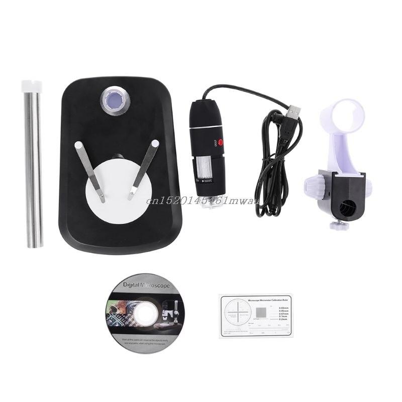 Endoscopio microscopio Digital 1600X con soporte USB 2,0 portátil de aumento nuevo 2019