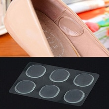 6 PCs/Sheet Women Ladies Girls Silicone Gel Shoe Insole Inserts Pad Cushion Foot Care Heel Grips Lin