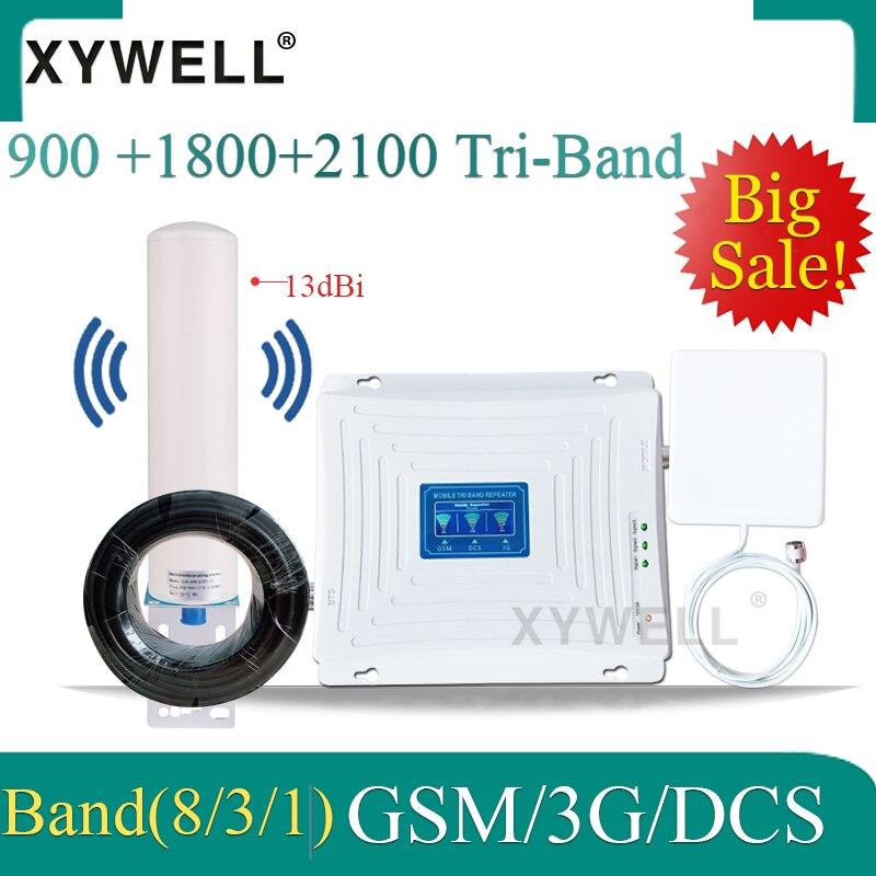 900/1800/2100mhz tri-band 4g amplificador celular 2g 3g 4g repetidor de sinal 900/1800/2100 gsm dcs 3g impulsionador de sinal de rede móvel