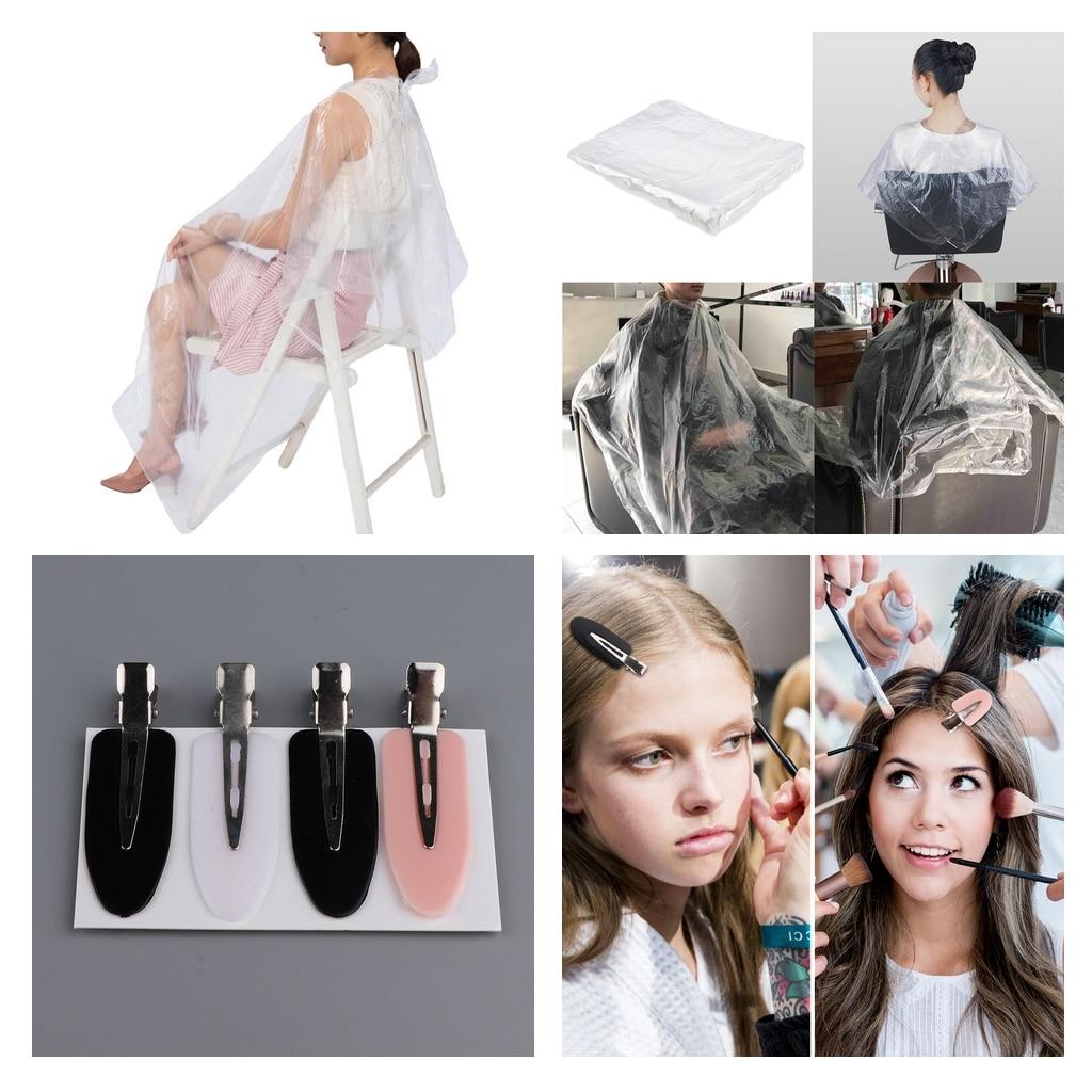 رداء صالون حلاقة يمكن التخلص منه ، ثوب حلاقة ، قماش شفاف ، 100x