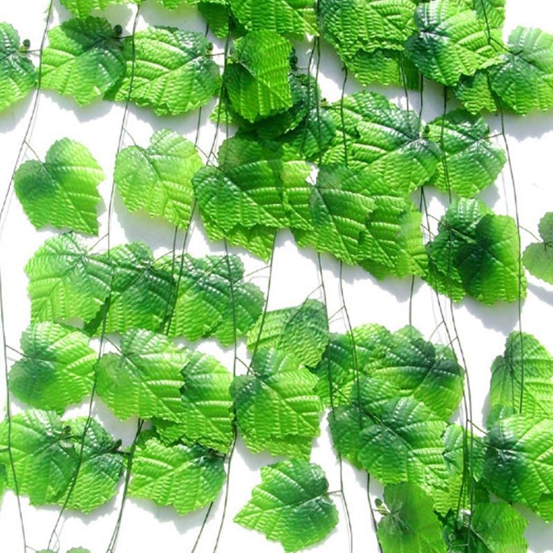 Artificial Green Ivy Leaves 230cm Long Artificial Plants Grape Vine Fake Foliage Leaves DIY Home garden Wedding Decoration