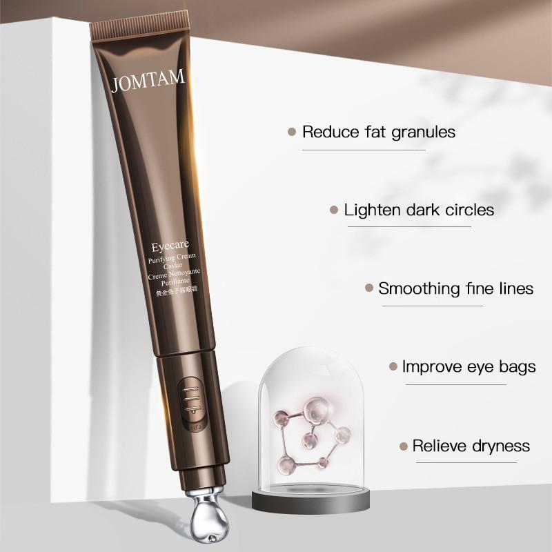 Crema de ojos eléctrica Dispositivo de masaje ocular círculo oscuro bajo los ojos Crema para Ojos vibración ácido hialurónico 24k oro COLÁGENO