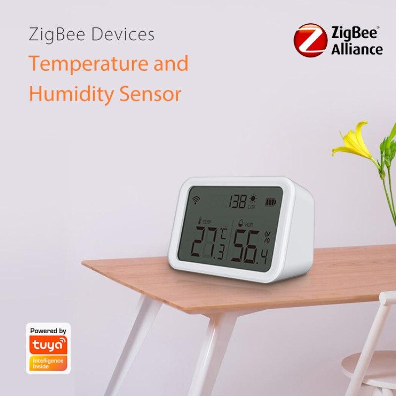 NEO Tuya زيجبي الذكية نظام إنذار استشعار درجة الحرارة والرطوبة كشف شدة مضيئة أتمتة المنزل أليكسا جوجل المنزل