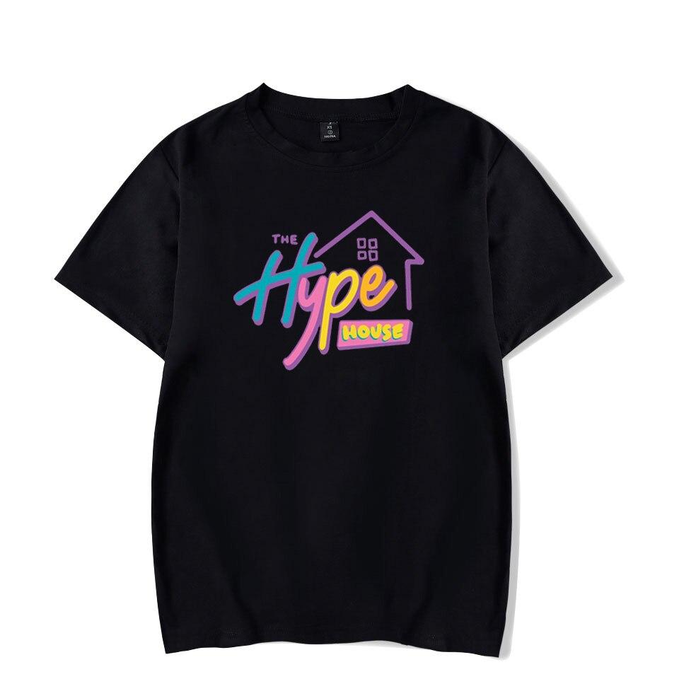 2020 New The Hype House T-shirt Charli D'Amelio T Shirt Men Unisex 100% cotton O-neck Addison Rae Tops Short Sleeve Women TShirt