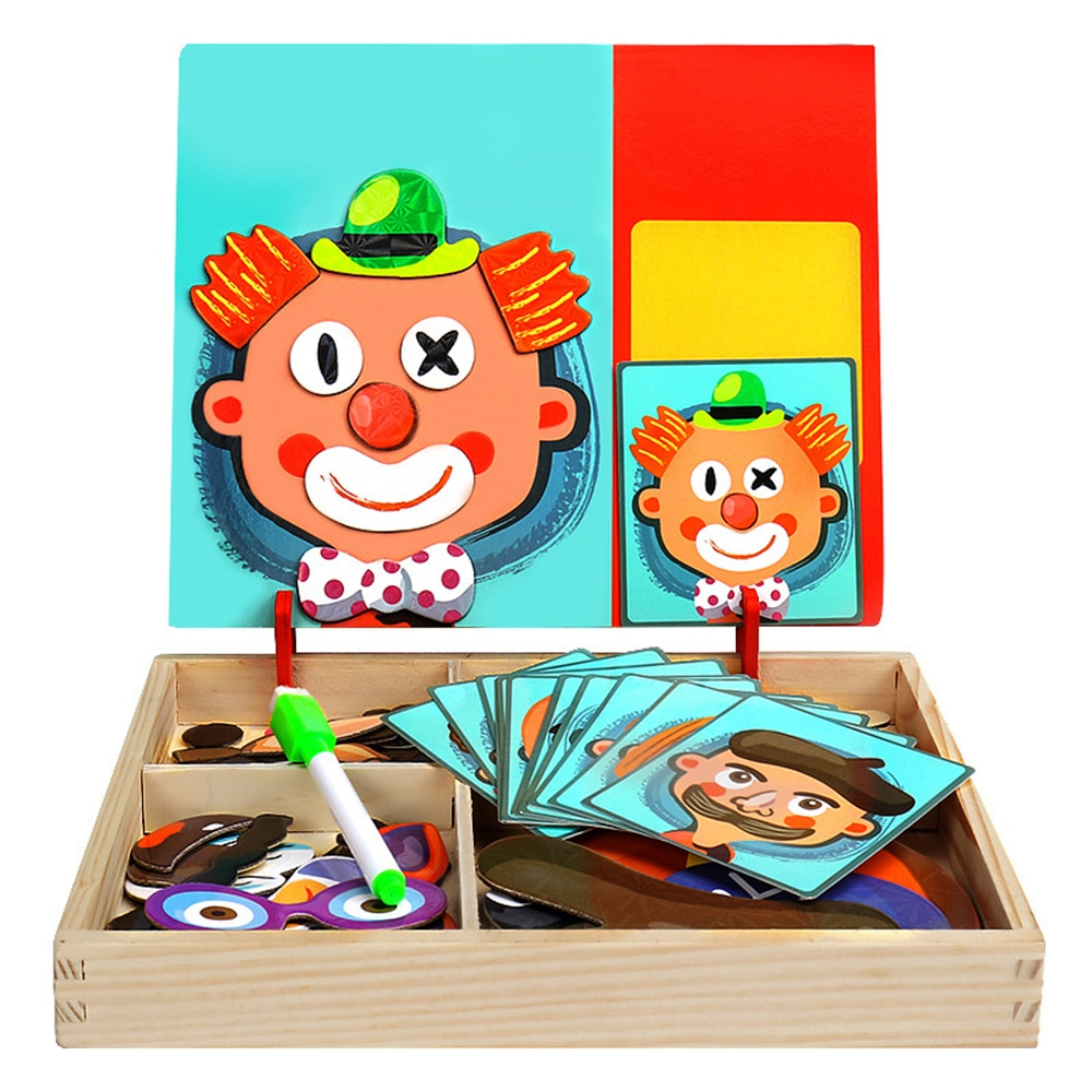 educational toys 7pcs kids puzzle magnetic cube magnet block magic square cube games 3d puzzles for children boys and girls gift Wooden Puzzle Magnetic Toys Educational Toys Jigsaw Toys For Children Puzzle 3D Puzzle Table Games Puzzles For Kids Educational
