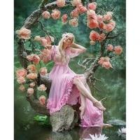 diamond mosaic beautiful flower girl diamond painting rhinestone diy full square round diamond embroidery home decoration