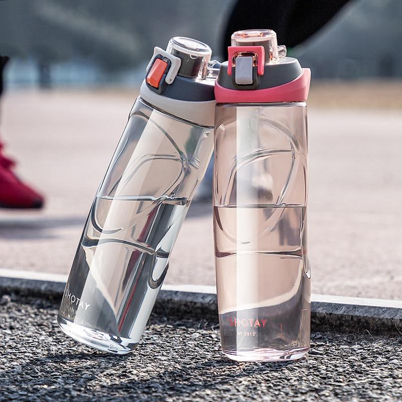 630ML Sports Water Bottle 2021 Summer Tritan Plastic Bottle Portable Kettle Travel Drinking High Qua