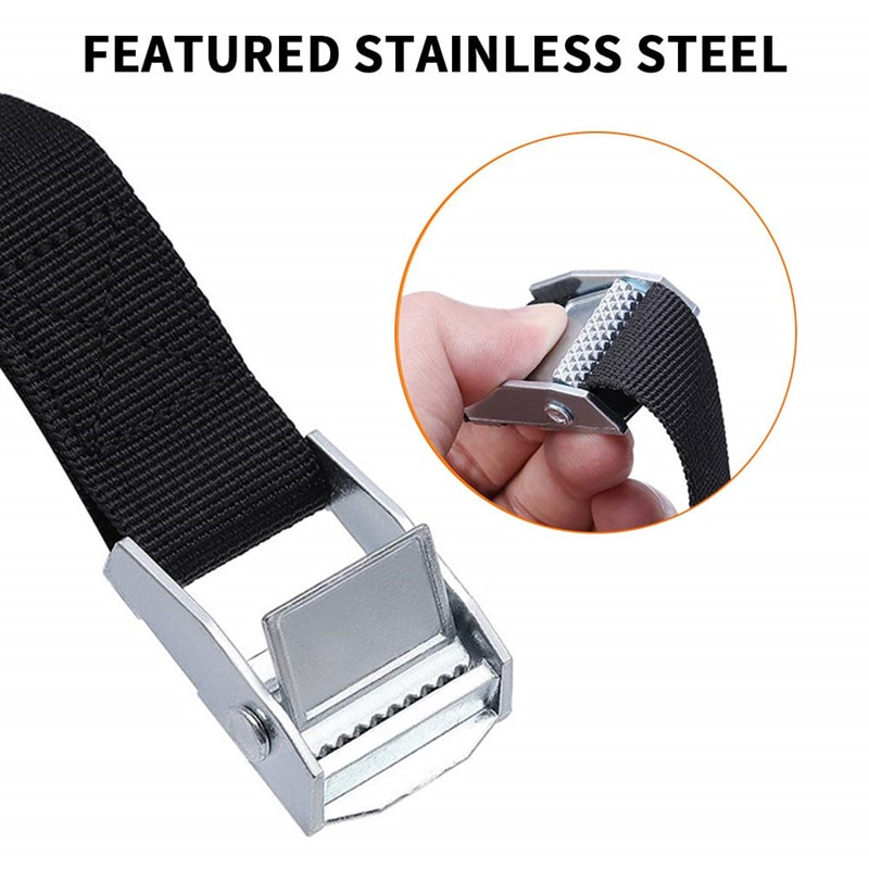 """AliExpress - 3/4"""" 2cm Buckle Tie-Down Belt Cargo Straps For Car Motorcycle Bike Luggage Bag With Metal Buckle Tow Rope Strong Ratchet Belt"""