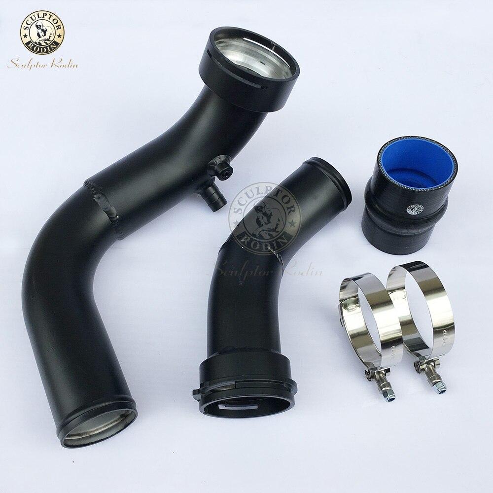 Труба для впускного заряда алюминиевая OEM Замена для BMW F20 F30 M135i M235i 335i 435i N55 3,0 T blak