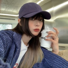 Baseball Cap Women's Summer New Korean Style Ins Fashion Brand Hard Top Stylish Embroidered Letters
