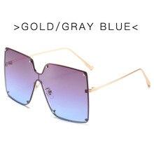 Sunglasses Women 2020 Wholesale Oversized Square Sunglasses Women Luxury Brand Fashion Flat Top Lens