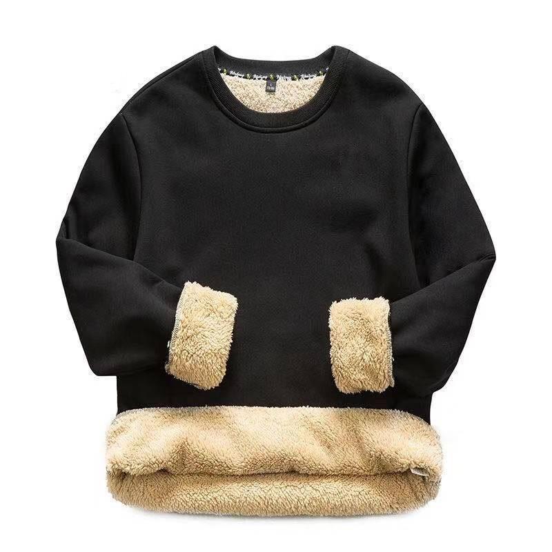 2021Men's clothing pullovers jerseys winter sweater jumpers Sweatshirts Plush Thickening