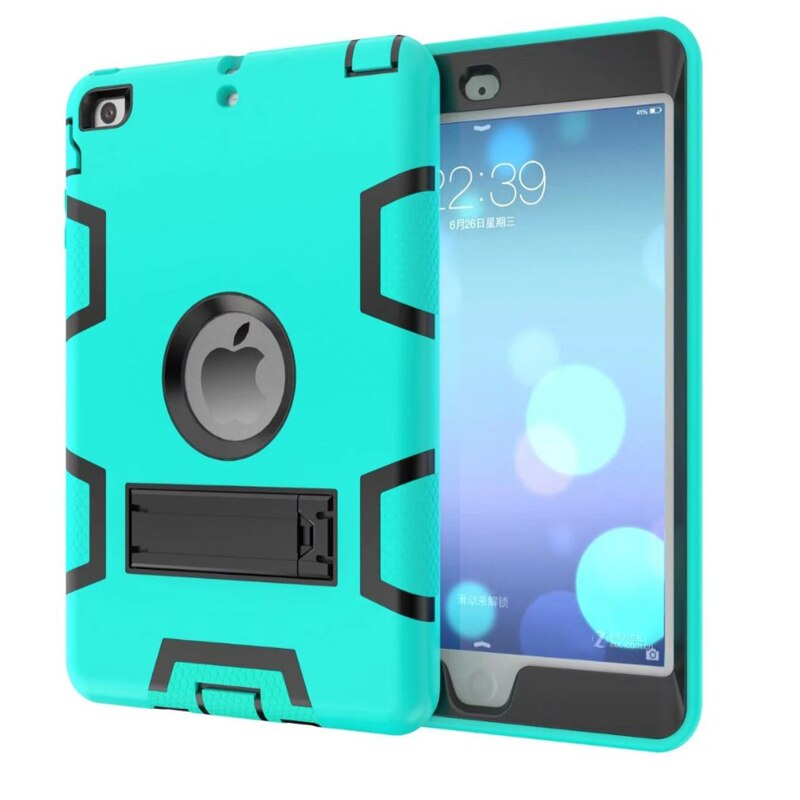 Funda de seguridad para Apple iPad mini 1 mini2 3, robot para niños, resistente a golpes + TPU + PC, funda dura para ipad mini123 + regalos