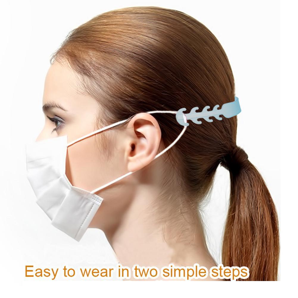 Hebilla de protección facial ajustable, 10 Uds., antideslizante, antideslizante, antiagujero, gancho para la oreja, soporte ajustador para máscara, accesorios