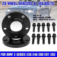 101520mm car wheel spacer adapters pcd 5x120mm 72 56mm for bmw e82 e88 e30 e36 e46 e28 e34 e90 e91 e92 e93 e60 e61 e31