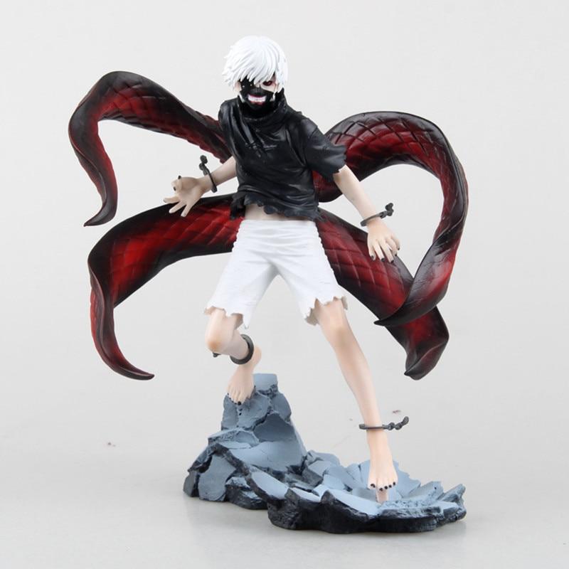 Tóquio ghoul figura brinquedos anime máscara ken kaneki melanismo modelo figura de ação pvc estatuetas estátua brinquedos 22cm brinquedo modelo t30