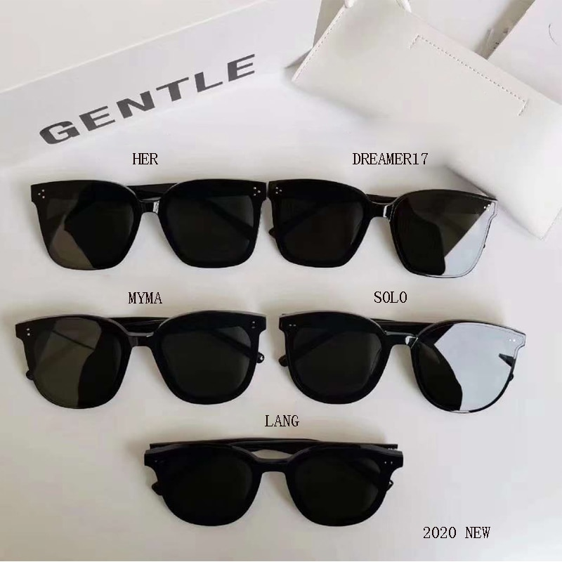 5 Style 2020 Korea Brand Design GENTLE Sunglasses  Women Men Acetate Superior Quality Popular Sunglasses With  Oringnal  Case