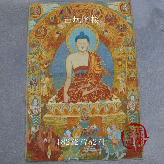 Colección de Boutique de China el diagrama de Shakya Muni bordado de Thangka