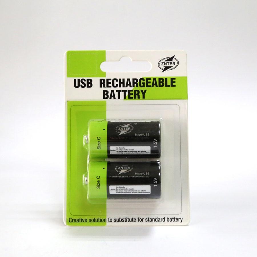 Batería recargable Micro USB Universal de 1,5 V y 3000mAh, tamaño C, batería de polímero de litio Lipo con carga, 5V y 2a