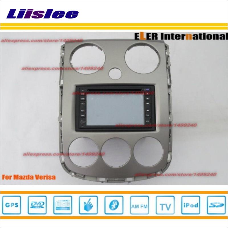 Liislee para Mazda Verisa 2004 ~ 2014 Radio CD, reproductor de DVD y GPS Nav Navi SISTEMA DE NAVEGACIÓN/doble Din Car Audio conjunto de instalación
