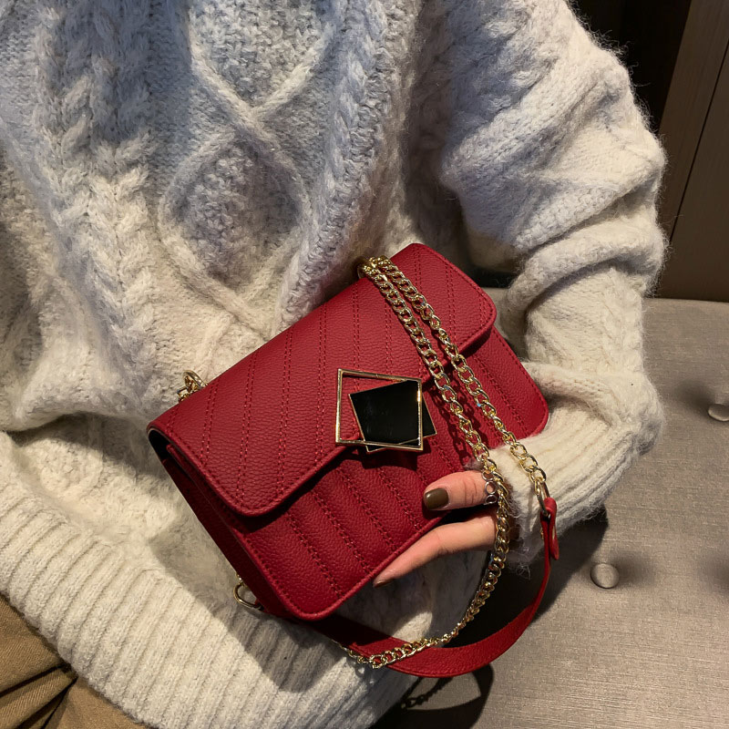 Fashion Shoulder Bags vintage bag For Women Chain Crossbody Small Flap Bag Female Luxury Designer Handbags Purses Versatile Bags women s luxury designer elegant pu classic quilted vintage shoulder bag chain flap crossbody bag handbag office daily fashion