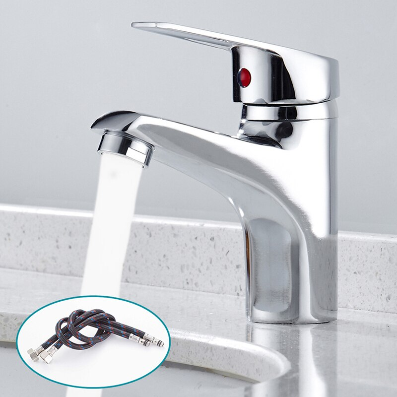 2021 Bathroom Basin Faucet Chrome Single Handle Kitchen Tap Mixer Hot and Cold Water Hose Accessory