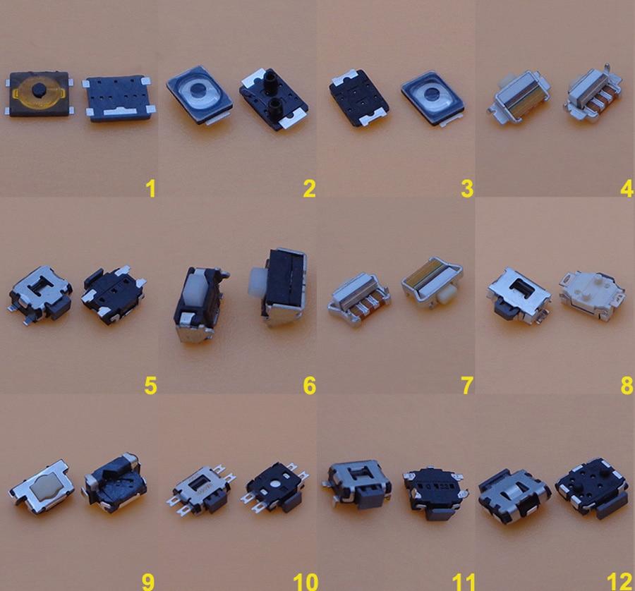 Interruptor táctil momentáneo de 12 modelos, botón pulsador Micro para ordenador portátil,...