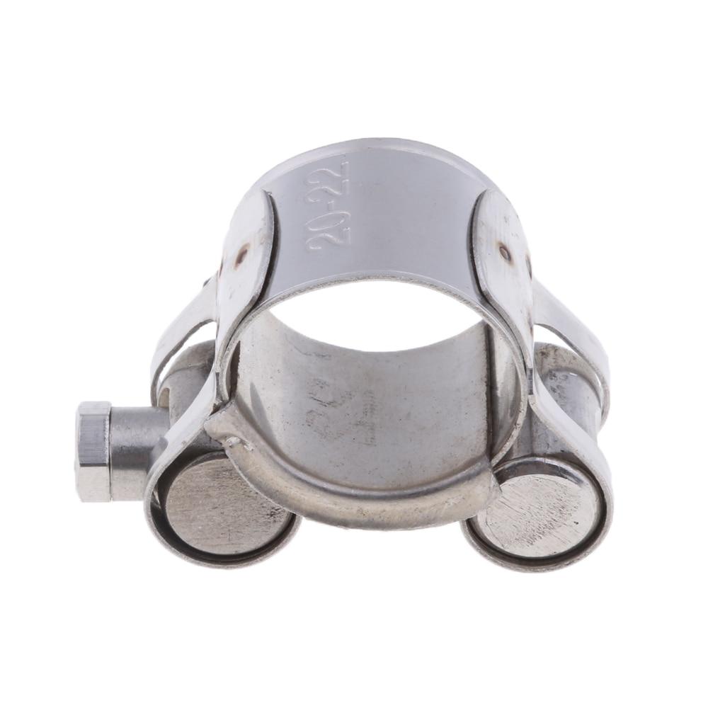 Tubo silenciador de escape para motocicleta, abrazadera de Clip para Turbo de 20-22mm y 26-28mm