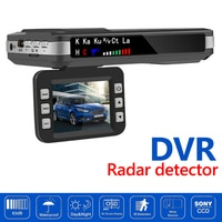 Автомобильный видеорегистратор 2 в 1, Автомобильная камера с антирадаром и голосовым управлением на английском и русском языках, радар-дете...