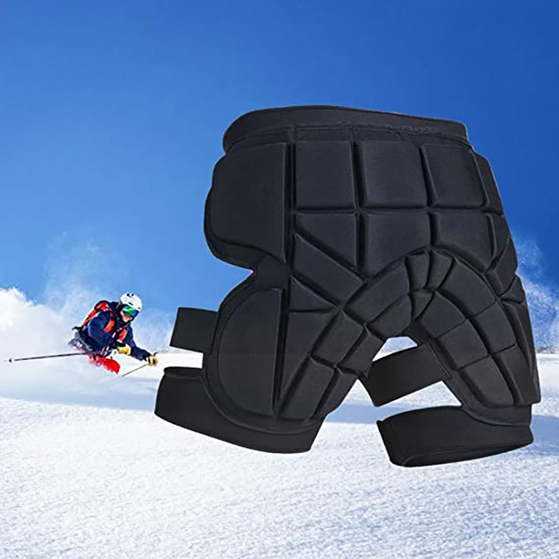 YXTC Padded Protective Short for Ski, Snowboard, Skate & Roller Sports, 3D Protection Butt, Hip Tailbone