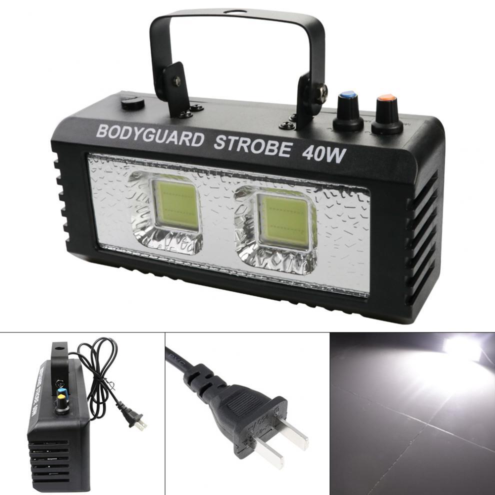 luz branca mini luz estroboscopica com controle de voz transmissao ilimitada efeito
