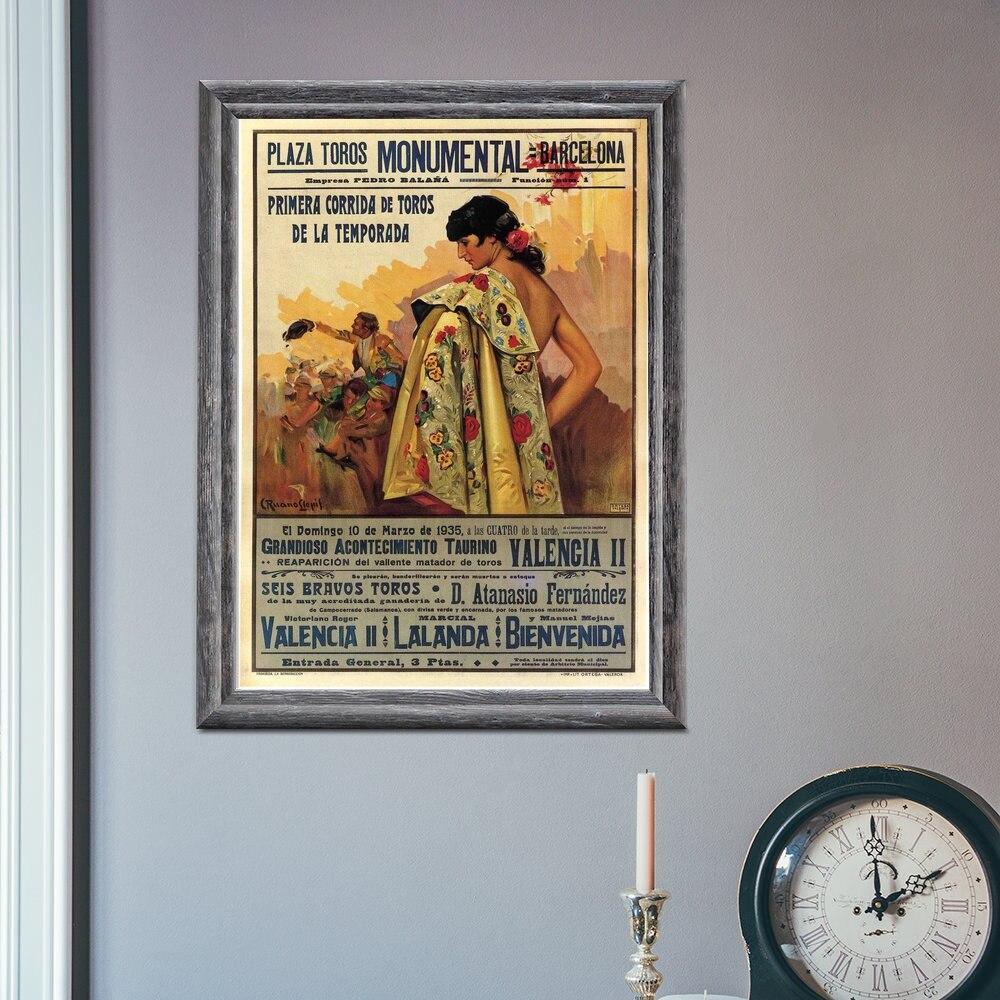 Bullfight Vintage Ad Barcelona España 1935 Corrida decoración pared película pintura decoración...