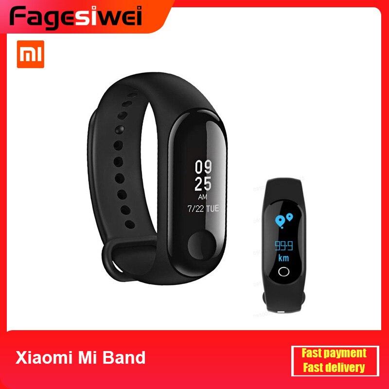 """Pulsera inteligente Xiaomi Mi Band 2/3 Monitor de ritmo cardíaco pulsera Bluetooth 4,2 pulsera 0,78 """"actualización del sistema de pulsera con pantalla táctil OLED"""