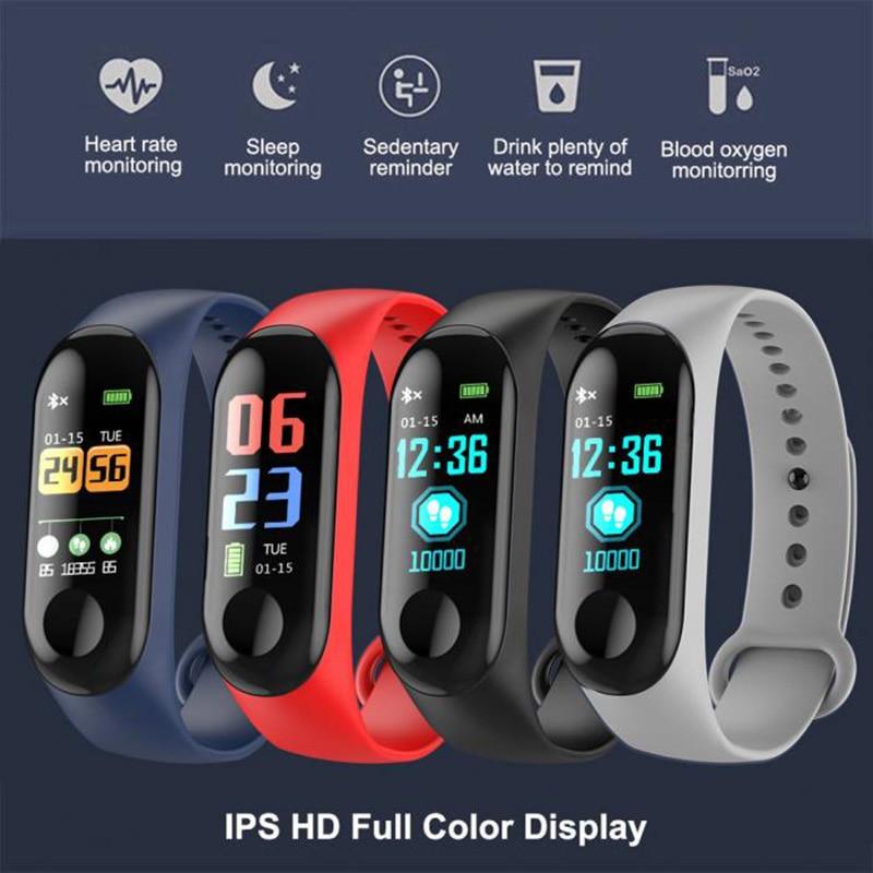 M3 inteligentna opaska bransoletka do zegarka Monitor aktywności fizycznej ciśnienie krwi pulsometr Fitness Bluetooth 4.0 inteligentny zegarek sportowy