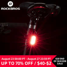 ROCKBROS велосипед задний светильник 250 мА/ч, USB, Перезаряжаемые ультра светильник езда на велосипеде светильник Предупреждение непромокаемые 5 ...