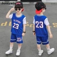 josaywin new summer clothes sets children suits kids boys casual sports 2 pieces sets topshorts outfits active teenager sets