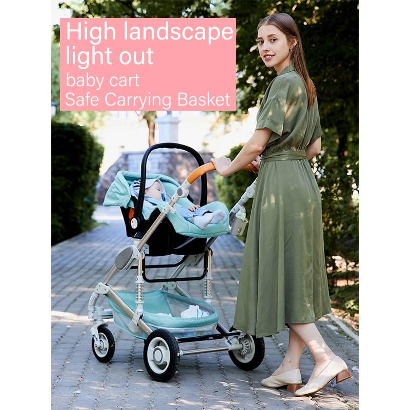 Multi-functional 3 in 1 Baby Stroller High landscape Folding Prams Aluminum Frame Baby Carriage For Newborn Car Baby Travel Cart enlarge